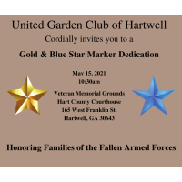 Gold Star Marker Dedication