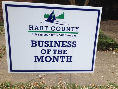 Hart County Chamber Business of the Month - September 2017