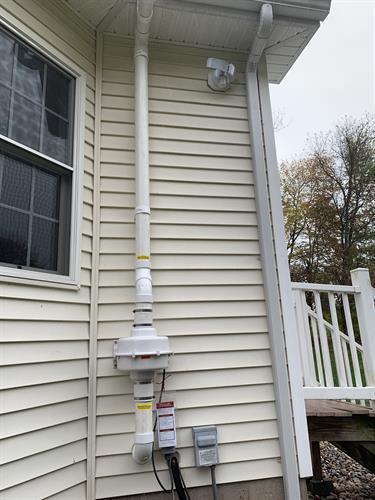 Radon Mitigation System Install