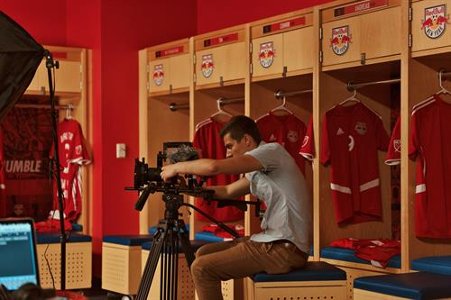 Filming with the New York Red Bulls