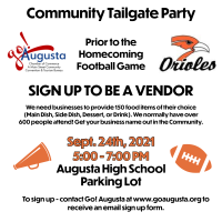Community Tailgate before Homecoming Football game