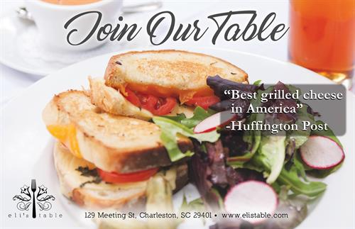 Eli's Table, voted Best Grilled Cheese in America by Huffington Post