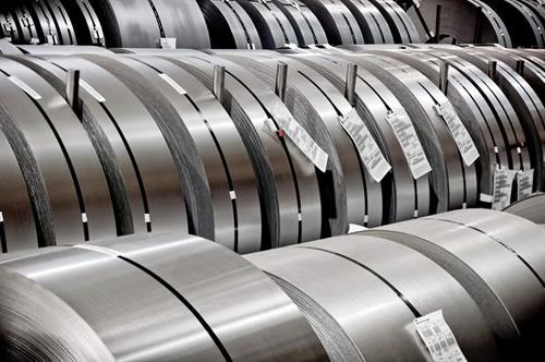Steel Coils Staged