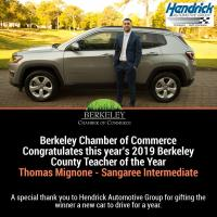 2019 Berkeley County Teacher of the Year