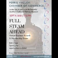 2021 Annual Business Awards & Membership Dinner *Full Steam Ahead*