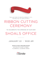 Sirote & Permutt, P.C., to Hold Ribbon Cutting Ceremony for Its Shoals Office