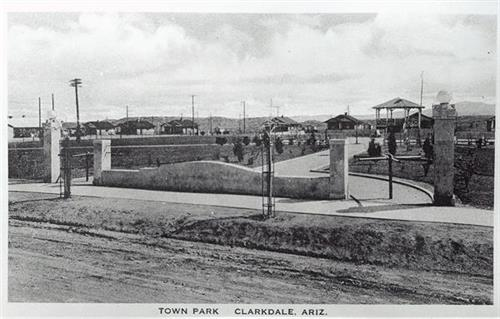 The Town Park, part of the planned company town