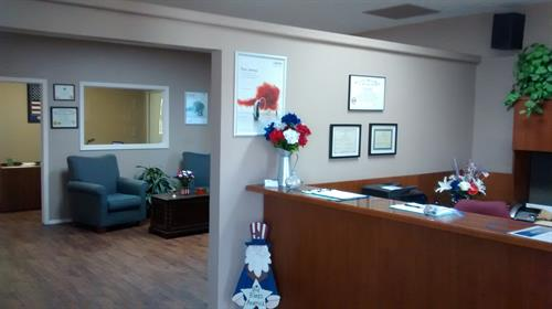"Visit our new ""spacious"" office, right across from the Flower Shop on 813 Cove Pkwy."