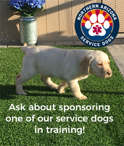 Be a sponar of a service dog