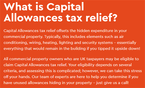 What is Capital Allowances Tax Relief?