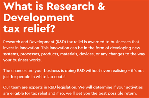 What is Research & Development Tax Relief?