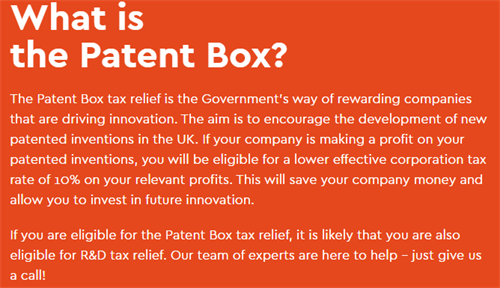 What is The Patent Box Tax Relief?