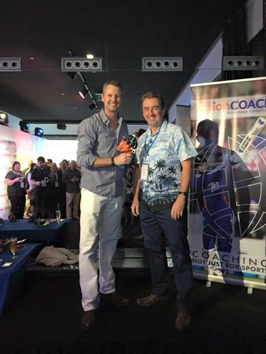 Teamwork: Award winner with ActionCOACH founder Brad Sugars