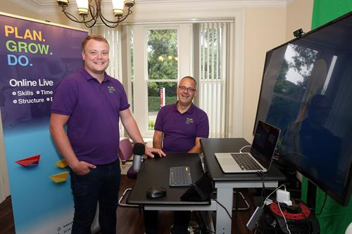 Steve and Rob in their training and webinar studio.