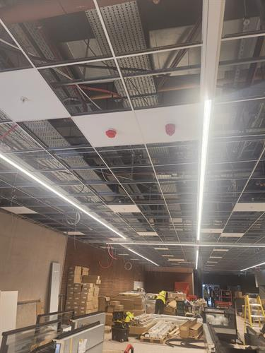 Optimum F&S completing a large fit out for a well know retailer
