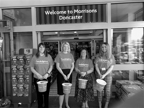 Keebles participated in a Morrisons bag pack to raise money for their partnered charity, Candlelighters.
