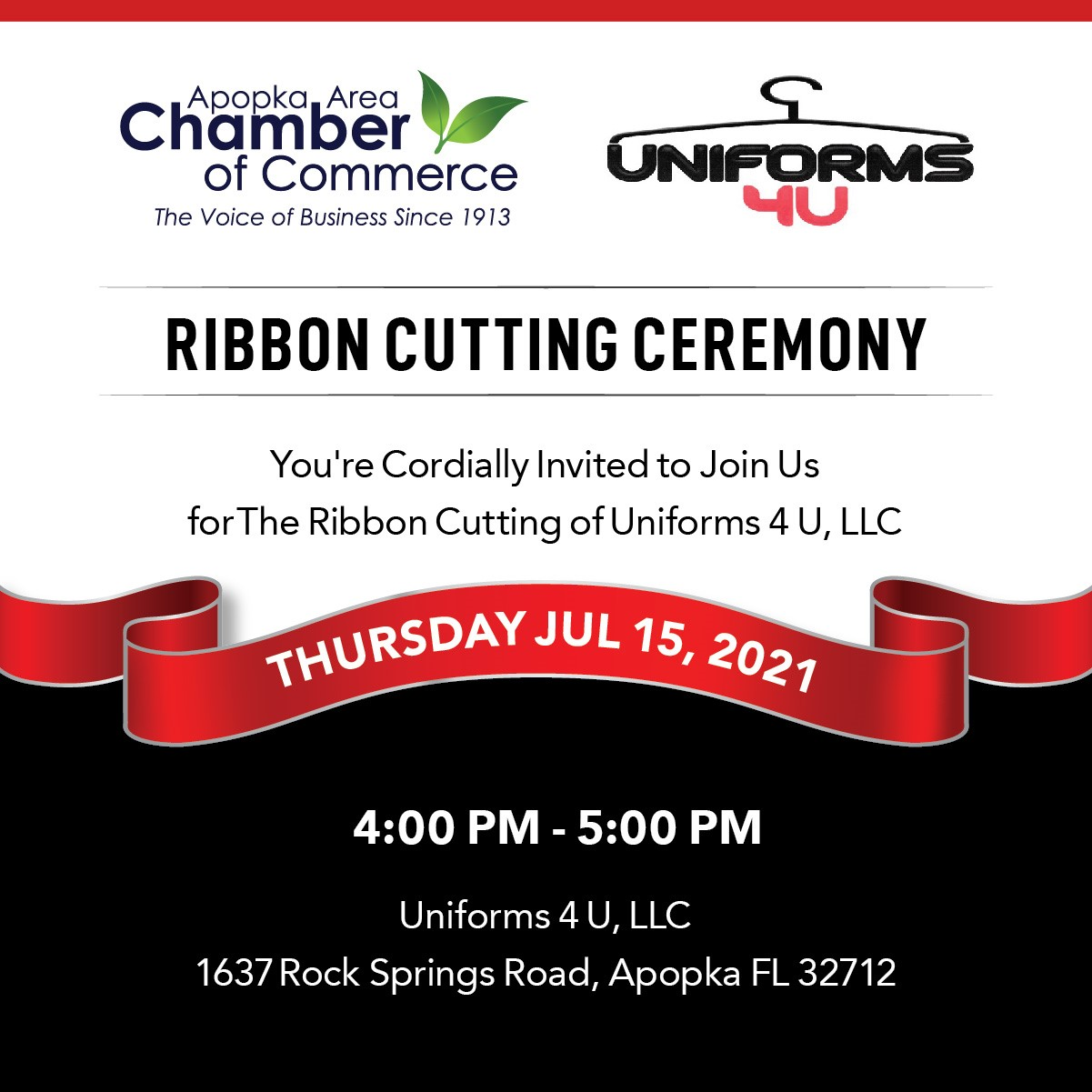 Image for Ribbon Cutting for Uniforms 4 U