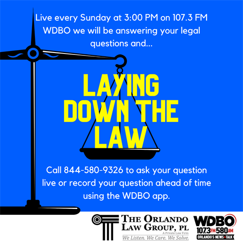 Check out our Radio Show every Sunday from 3:00 - 4:00 on 107.3 WDBO.