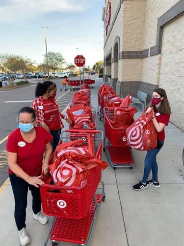 Target donated $500 to us