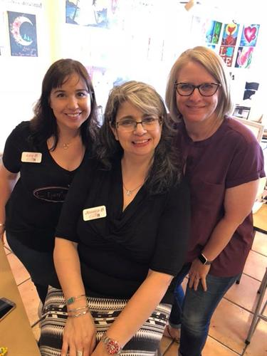 #thegals Lisa Benson and Jessica Badowski having fun with Chellie Kranjak at one of the classes.