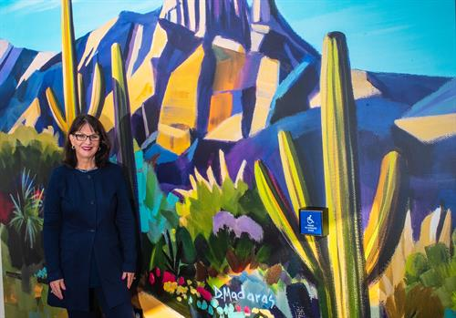 Mural artwork by renowned Tucson artist Diana Madaras