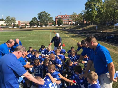 Team Prayer Before ICGS Football Game