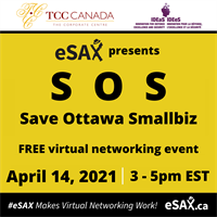 eSAX presents: SOS (SAVE OTTAWA SMALLBIZ) FREE virtual networking event