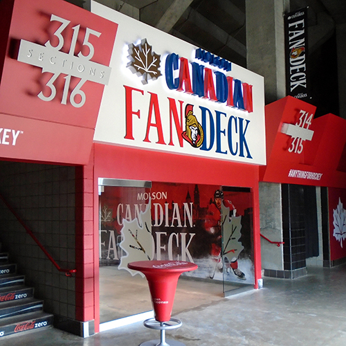 Canadian Tire Centre, Interior - Molson Canadian Fan Deck