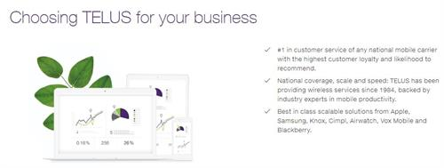 Choose TELUS for your Business