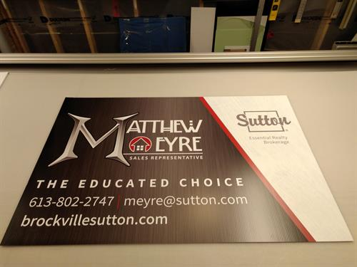 Coroplast Signage - Printed Vinyl and Applied.