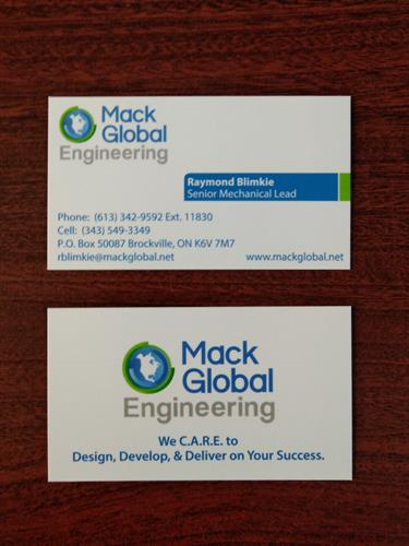 Printed & Designed Business Card - as well as logo.