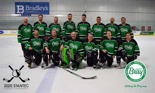 Bray Team at Stantec 2020 Hockey Tournament