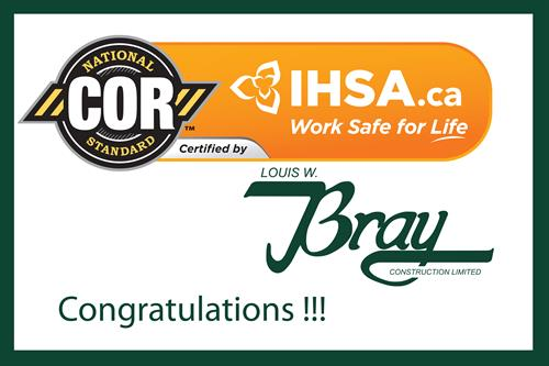 Bray is IHSA COR certified