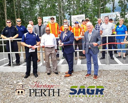 Perth Wastewater Treatment Plant ribbon cutting