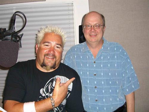 Guy Fieri completes a voiceover session at Creative Media