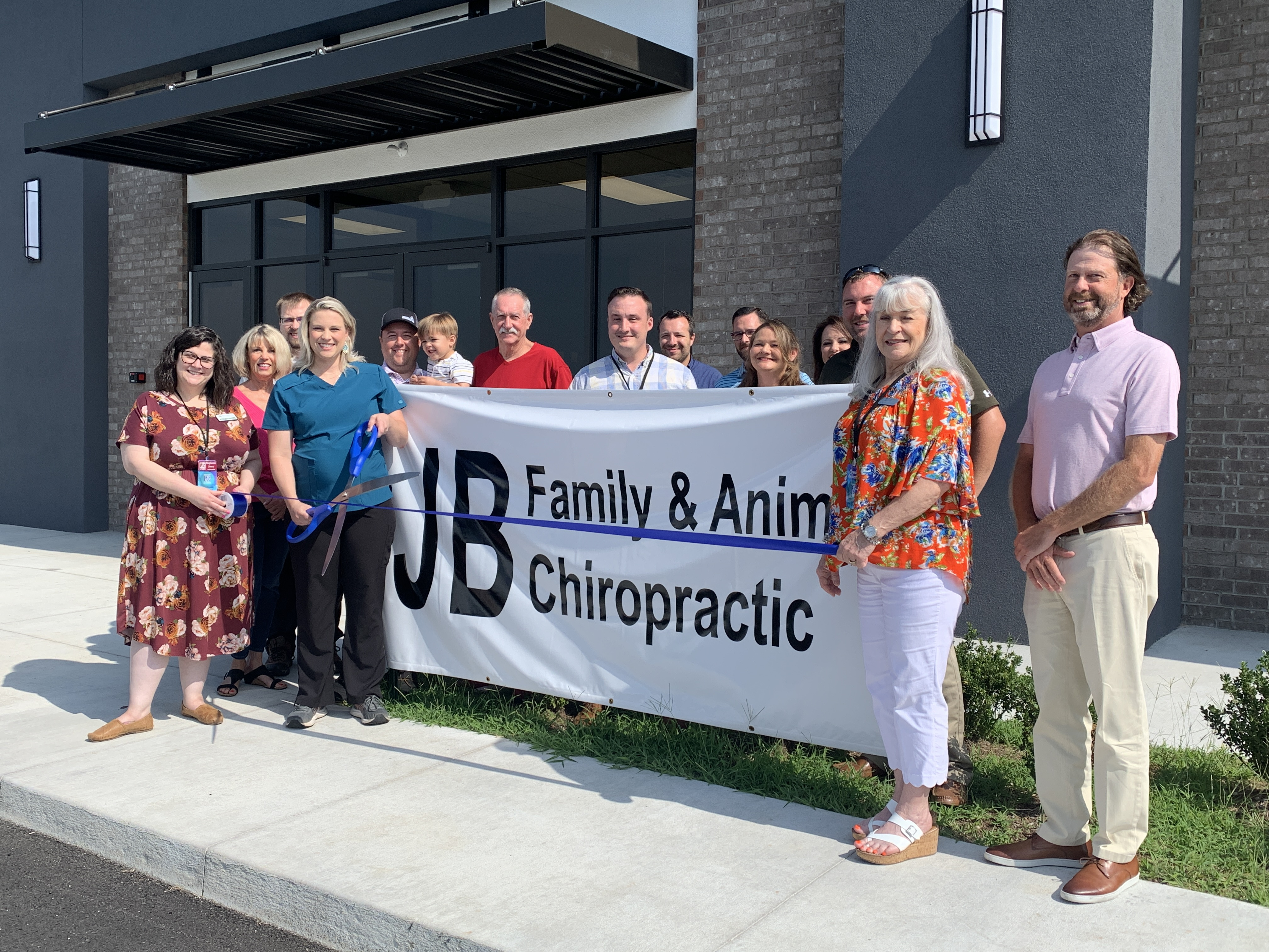 Scenes from the Ribbon Cutting for JB Family & Animal Chiropractic