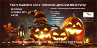 CAE's Halloween Lights Out Block Party