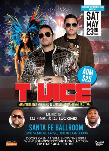 T-Vice Live in Atlanta on 23 May 2020