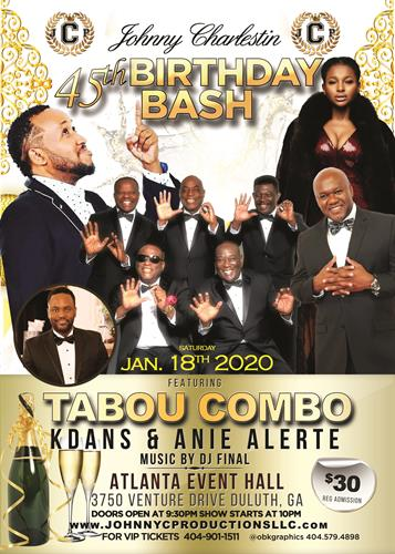 Tabou Combo Live in Atlanta on 18 January 2020