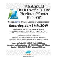 Utah Pacific Island Heritage Month Kick Off