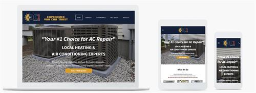 Website for AC1 Heating and Air www.ac1heatandair.com