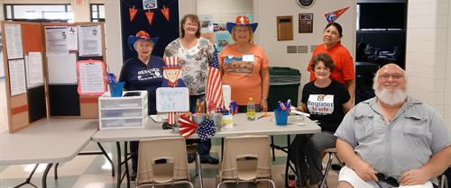 TDWJC held a nonpartisan voter registration event at Hill College - Burleson