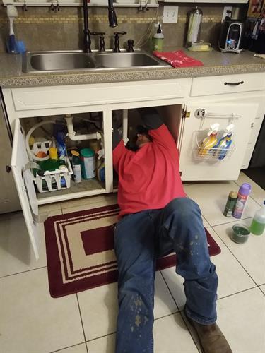 Repair under sink