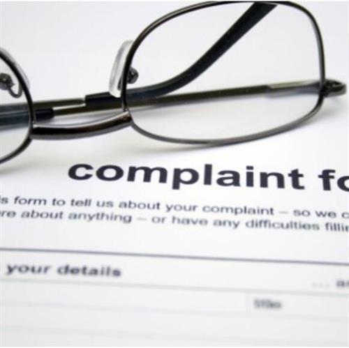 Complaints? Have your Lawyer handle it.