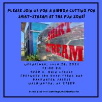 Ribbon Cutting  Shirt-Stream at the Fun Zone