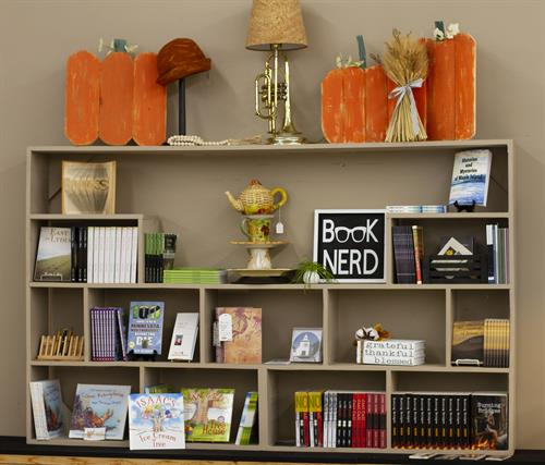 We feature a section dedicated to local authors.