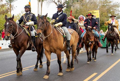 Buffalo Soldiers of the Arizona Territory, Fiesta Bowl Parade, Phoenix, AZ