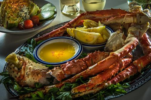 Crab legs, prime rib, and more with you all-inclusive package