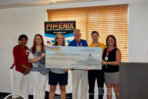 Check Presentation to Exchange Club of Scottsdale