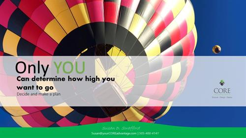 Lessons Learned - Choose How High You Want to Go